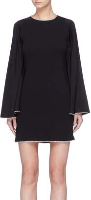 Sonia Rykiel Strass border cutout back drape sleeve dress