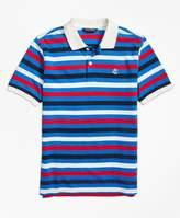 Brooks Brothers (ブルックス ブラザーズ) - BOYS GF コットンピケ ストライプ ポロシャツ