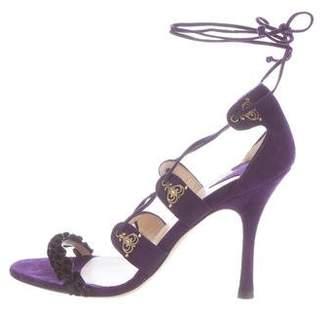 Alexandra Neel Vogue Lace-Up Sandals