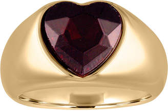 Rachel Roy Gold-Tone Crystal Heart Statement Ring