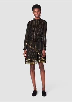 Derek Lam 10 Crosby Long Sleeve Ruffle Collar Dress