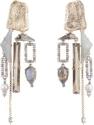 Alexis Bittar Watery Stone Clip-On Chandelier Earrings