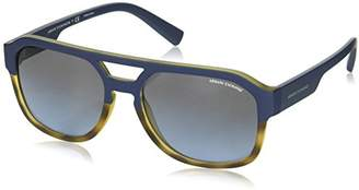 Armani Exchange Men's Plastic Man Rectangular Sunglasses