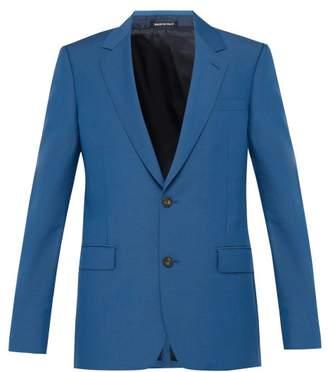 Alexander McQueen Wool Blend Suit Jacket - Mens - Blue
