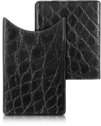 Peroni Crocodile-Embossed Leather Card Case