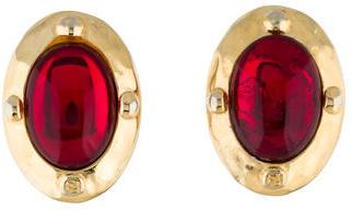 FendiFendi Red Crystal Clip-on Earrings
