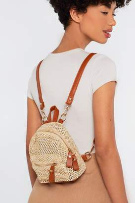 Nasty Gal WANT Can't Help Falling in Woven Backpack