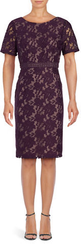 Adrianna PapellAdrianna Papell Embroidered Floral Sheath Dress