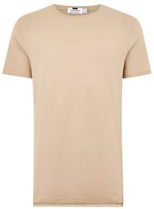 Topman Mens Beige Stone Longline T-Shirt