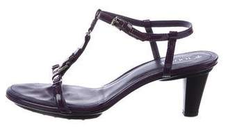 Tod's Patent Leather Ankle Strap Sandals