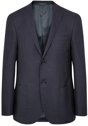 Corneliani Navy Super 110's Virgin Wool Blazer