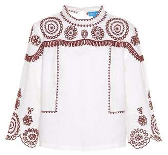 MiH Jeans Edelson embroidered cotton top