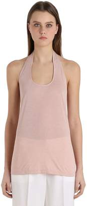 Siran Jersey Halter Top With Low Cut Back