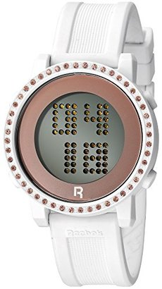 Reebok (リーボック) - ReebokレディースRazzle Razzle BlingデジタルWatch with Swarovski Crystalsホワイトrc-rzb-l9-pwiw-w3