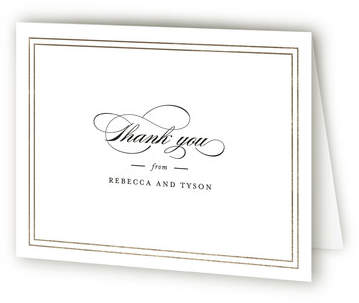 Eloquence Foil-Pressed Thank You Cards