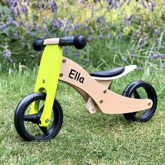 Harmony at Home Children's Eco Boutique Personalised Two In One Training Tricycle
