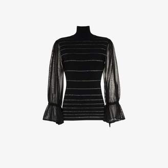 Roksanda Aril stripy knitted turtleneck jumper