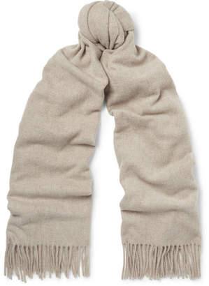 Acne Studios Canada Fringed Wool Scarf - Cream