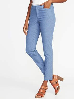 Old Navy Mid-Rise Linen-Blend Pixie Pants for Women