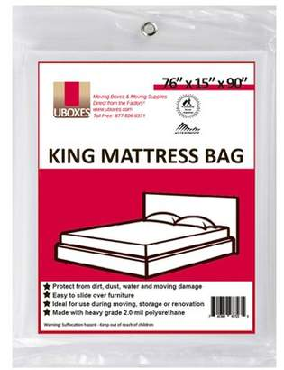 Uboxes King Mattress Poly Covers, 76 x 15 x 90 in, 1 Pack