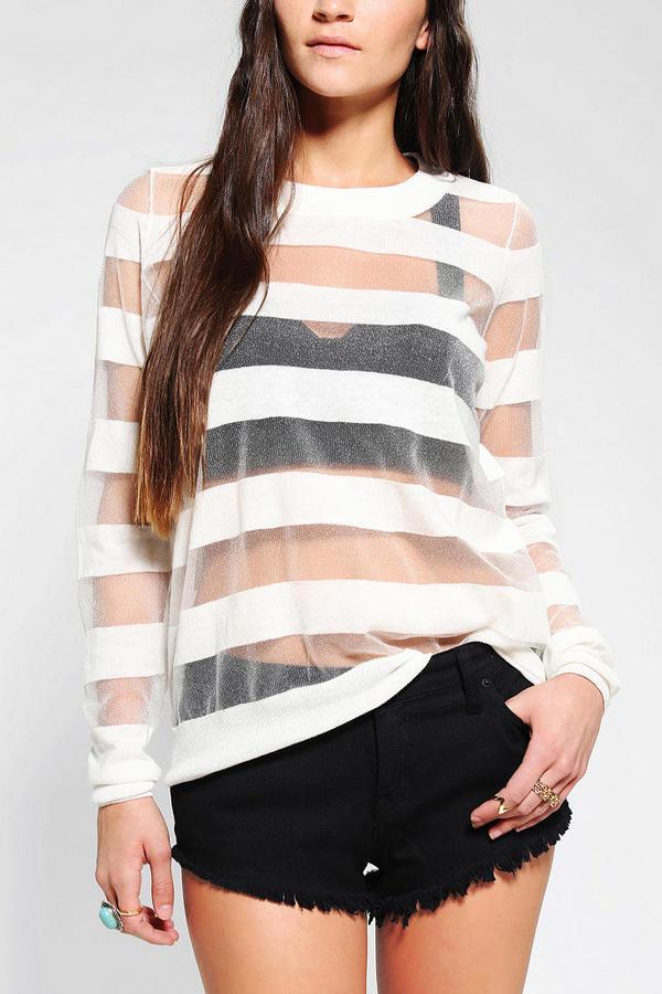 Sparkle & Fade Floating Stripe Sweater