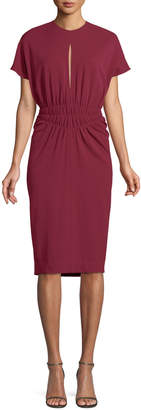 Narciso Rodriguez Crepe Jersey Cinched-Waist Dress
