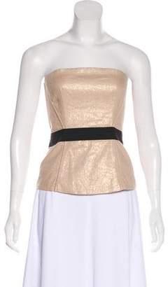 Dolce & Gabbana Metallic Strapless Bustier Top