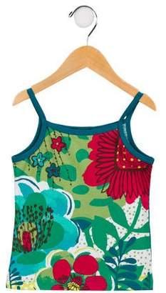 Catimini Girls' Floral Knit Top