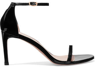 Stuart Weitzman Nudist Patent-leather Sandals - Black