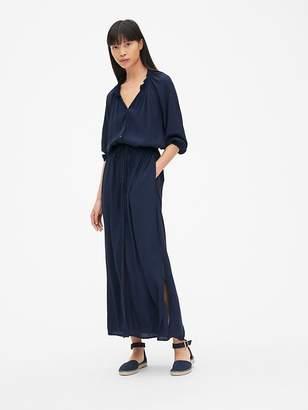 Gap Perfect Tie-Waist Maxi Shirt Dress
