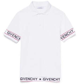 Givenchy Cuban-Fit Elastic-Trimmed Cotton-Piqué Polo Shirt