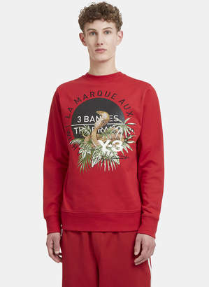Cobra Back Crew Neck Sweater in Red