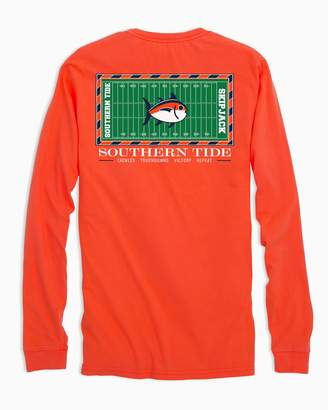 Southern Tide Gameday Football Stadium Long Sleeve T-shirt - Auburn University