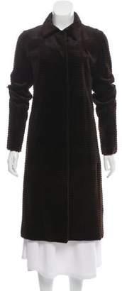 J. Mendel Sheared Mink Knee-Length Coat