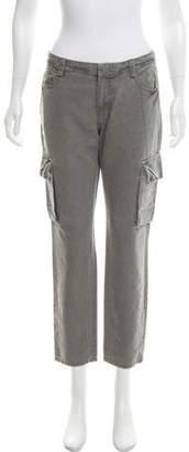 Nili Lotan Mid-Rise Straight-Leg Cargo Pants