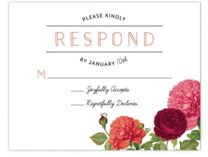 Romantic Botanic RSVP Cards
