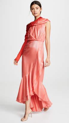 Hellessy Eden Asymmetric Drape Gown