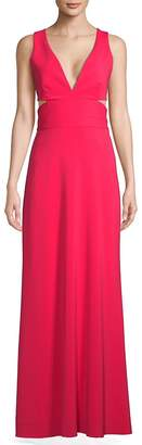 Laundry by Shelli Segal Women's Sleeveless Cut-Out Gown
