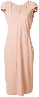 Vionnet v-neck dress