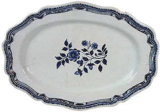 One Kings Lane Vintage Antique French Faience Platter - Stucco Mansion Antiques