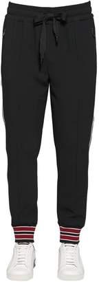 Dolce & Gabbana Tech Viscose Blend Track Pants