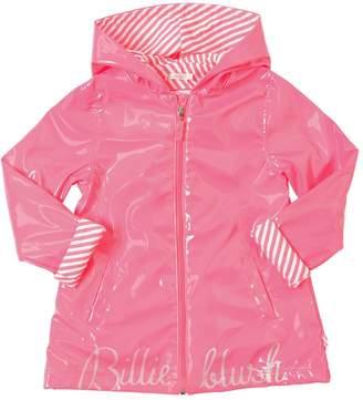 Billieblush Logo Print Raincoat W/ Hood