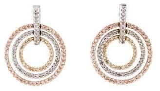 14K Diamond Circles Drop Earrings