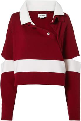 Monse Stripe Polo Sweater