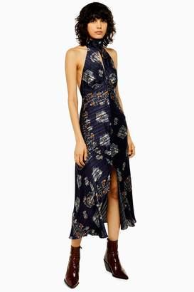 Topshop IDOL Paisley Halter Neck Dress