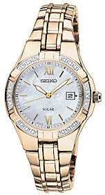 Seiko Women's Goldtone Diamond Accent Watch $425 thestylecure.com
