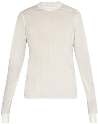 Rick Owens Semi-sheer long-sleeved cotton top