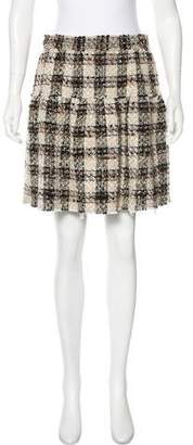 Dolce & Gabbana Tweed Plaid Mini Skirt