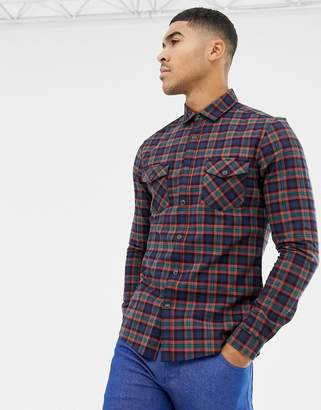 266d8a9ed4 Asos Design DESIGN skinny western check shirt in navy
