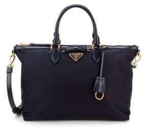 Prada Bow Logo Plaque Satchel